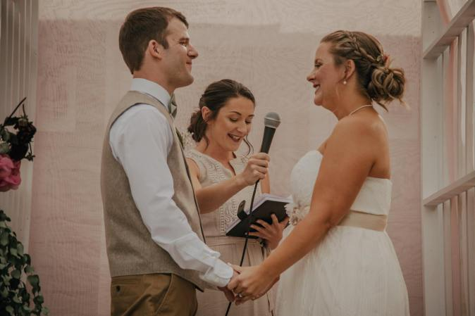 Maine Wedding Officiant - Gateway Celebrations   Gorham, Maine Wedding   Photo by Genuine Exposures