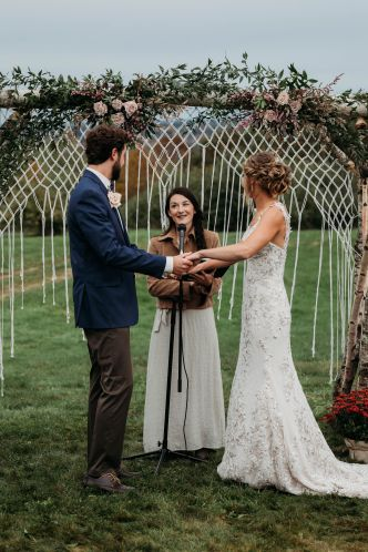 Maine Wedding Officiant - Gateway Celebrations | Photo by Brittney Fairfield Photography