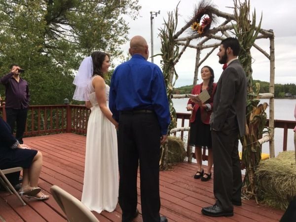 family style wedding on the water in rural Maine