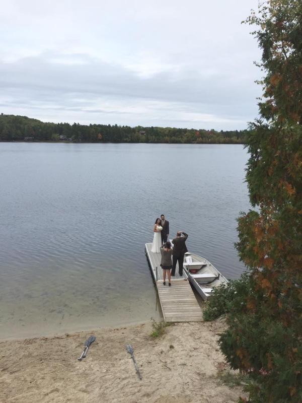 Rustic Airbnb cabin wedding in rural Maine