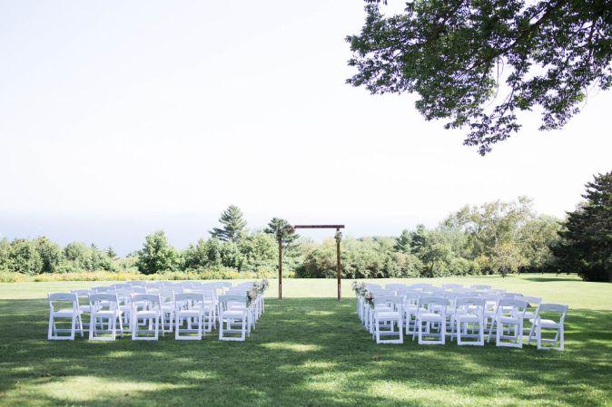 Elegant Wedding ceremony in Camden, Maine