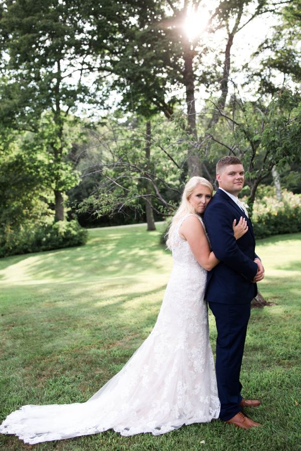 Bride and Groom Wedding day portrait