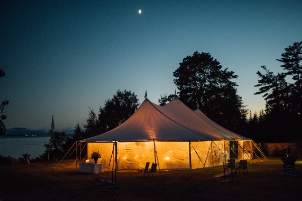 Picturesque Downeast Maine Wedding under the stars